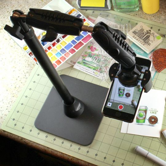 Pro Phone Stand for Live Streaming Baking Crafting Stamping and