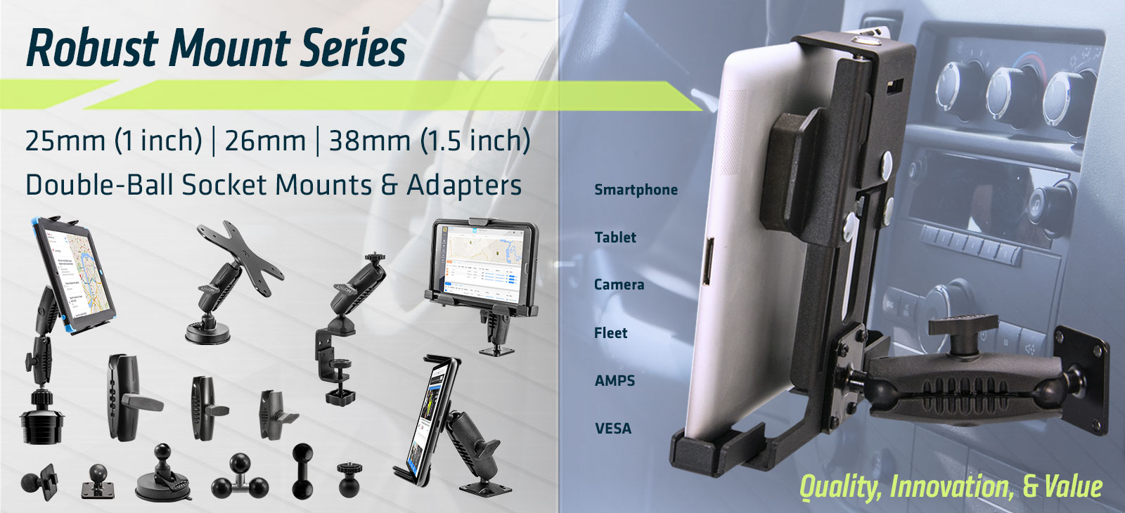 Arkon Mounts - The Tablet Mounting Specialists - Heavy-Duty Phone