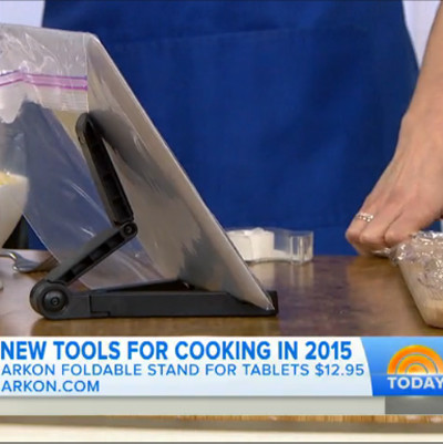 Arkon's Tablet Stand Featured on the Today Show | 4 Nifty New Kitchen Gadgets to Try in 2015 kitchen tablet stand featured on today show